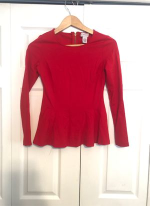Red stretchy blouse XS for Sale in Alexandria, VA