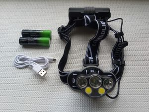 Hunting 5X XM-L T6 White Red LED USB Headlamp Headlight Flashlight Torch for Sale in San Diego, CA