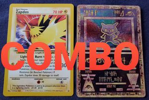 COMBO - Pokemon Promo Cards - Ancient Mew Holo and Legendary Bird Zapdos for Sale in Lathrop, CA