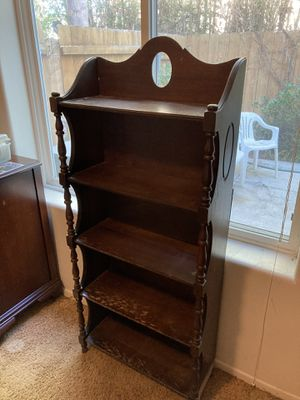 Antique wood bookcase for Sale in Carlsbad, CA