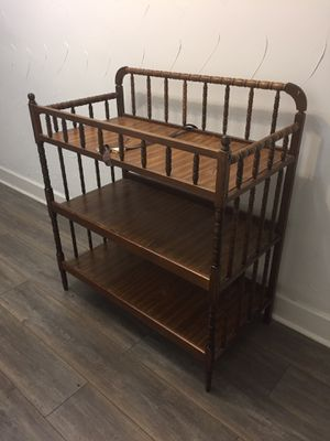 wooden baby changing table for Sale in Dallas, TX