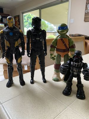 3 - 12 inch action figures— 1 - 6 inch action figure $10 each for Sale in Fresno, CA