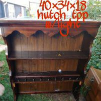 Hutch top with light for Sale in Salina, KS