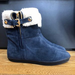 Burberry suede winter booties with shearling for Sale in Boston, MA