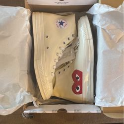 Converse X CDG Play High Top Cream Size 10 for Sale in Woodinville,  WA