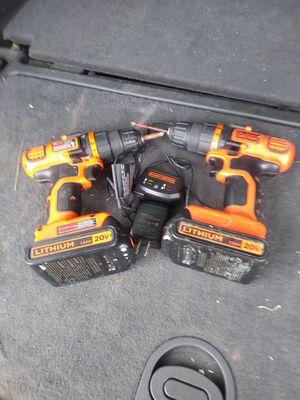 Black and Decker drills 20v.. for Sale in Harlingen, TX