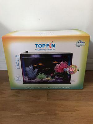 Top fin 3 gallon 7 color led light fish tank aquarium new in box! for Sale in St. Petersburg, FL