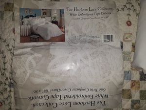 TWIN DUVET, The Heirloom Lace Collection, Embroidered Tape Cutwork for Sale in Mesa, AZ