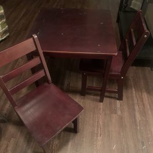 Kids Wood table and chairs for Sale in Frisco, TX