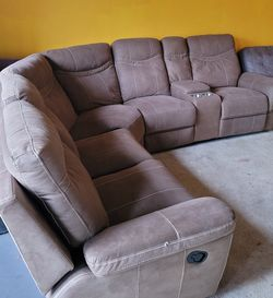Sectional Sofa Microfiber With Recliners for Sale in St. Petersburg,  FL