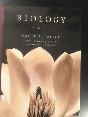 Campbell • Reece Biology 8th Edition textbook for Sale in Clanton, AL