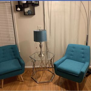 Accent Chairs, End Table & Lamp for Sale in Gaithersburg, MD