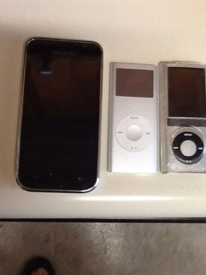 Two Apple IPod's and one Samsung MP3 Player today special one with camera for Sale in MONTGOMRY VLG, MD