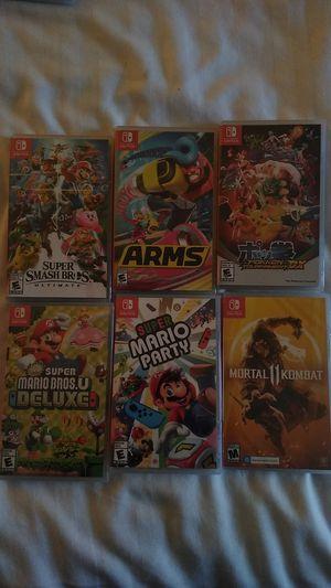 Super smash Bros, arms, Pokken tournament DX, super Mario Bros u deluxe, super Mario party mortal Kombat 11 for Sale in Bellevue, WA