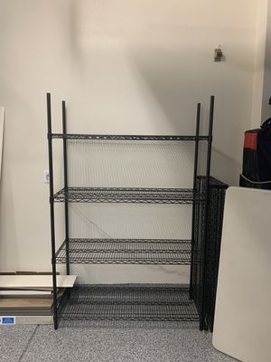 Black Metal Wire Shelving Unit (48 in. W x 72 in. H x 18 in. D) for Sale in Foothill Ranch, CA