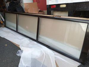 9 x 10 clopay aluminum frame glass garage doors with frosted glass for Sale in Tacoma, WA