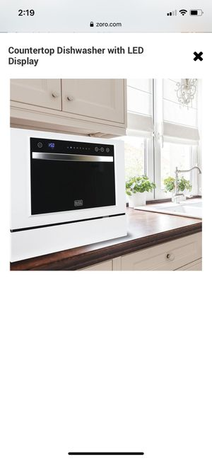 BLACK & DECKER Countertop Dishwasher with LED Display Zoro #: G6933180 Mfr #: BCD6W for Sale in Westerville, OH