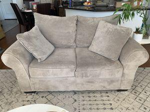 Gray/Beige Love Seat & Sofa Set for Sale in Dallas, TX