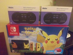 Nintendo Switch console Let's go Pokemon! Edition PLUS 2 more wireless remotes BRAND NEW for Sale in Miami, FL