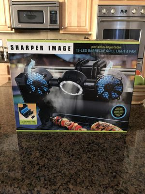 Sharper Image portable / adjustable 12-LED BBQ Grill Light and Fan for Sale in Henderson, NV