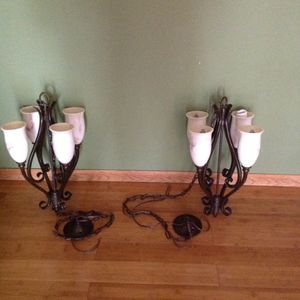 2 Kitchen Light Fixture metal for Sale in Bloomingdale, IL