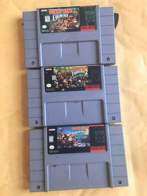 Super Nintendo Donkey Kong Country collection for Sale in Rosedale, MD