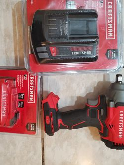 """Craftsman 1/2"""" Impact Plus Battery And Charger FIRM for Sale in Norwalk,  CA"""