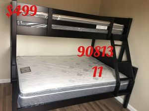 Twin/full bunk bed with mattresses. Assembly required. Assembly not included. Free delivery-$499.00 for Sale in Long Beach, CA