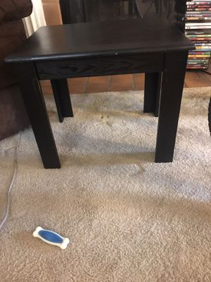 End Table Black, Used, Great Conditon. $20 OBO. for Sale in St. Louis, MO