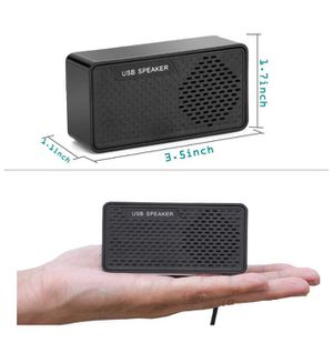 Mini USB Speaker Portable Speaker for Computer Laptop Notebook PC Desktop Checkout Counter for Sale in Chino, CA
