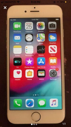 Unlocked iPhone 6 128 GB Silver OBO for Sale in Cinnaminson, NJ