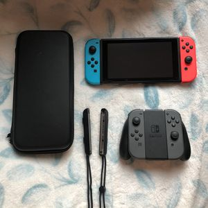 SWITCH WITH THREE GAMES AND EXTRA CONTROLLERS OBO for Sale in Henderson, NV