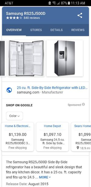 SS Samsung fridge, free micro for Sale in Mesa, AZ