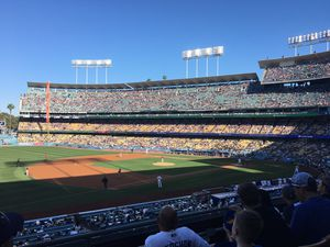 Dodgers Season Tickets Loge 151 VIP Row G on Aisle Seats next to infield above Field level for Sale in Fullerton, CA