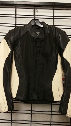 Hein Gericke Women's Leather Tan/Black Motorcycle Jacket for Sale in Signal Hill, CA