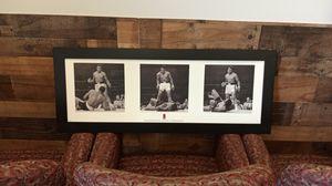 Muhammad Ali 3 in1 canvas black frame wall decor new 40x16 inches for Sale in Smyrna, GA