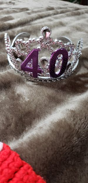 40 birthday crown for Sale in Peoria, AZ