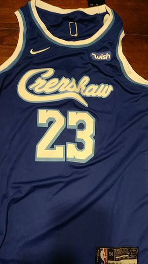 """Brand new Lakers """"Crenshaw"""" Lebron James jersey for Sale in Kent, WA"""