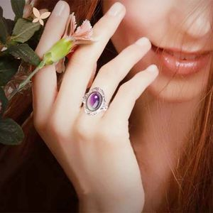 SHIPPING ONLY !Purple moonstone over sterling silver Ring size 7 for Sale in Chicago, IL