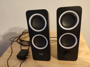 Logitech Multimedia Speakers Z200 with Stereo Sound for Multiple Devices for Sale in Bethesda, MD