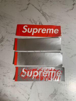 3 scratch off supreme stickers plus one free supreme sticker for Sale in Newcastle, WA
