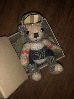 (Real) Burberry bear keychain limited edition it has a hat and jacket for Sale in Homestead, PA