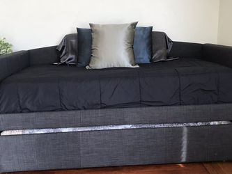 Charcoal Grey Twin Bed Frame With Trundle for Sale in San Diego,  CA