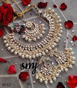 White kundan necklace set for Sale in Dublin, CA
