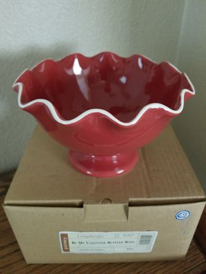 Longaberger Be My Valentine Ruffled Bowl for Sale in BELLEAIR BLF, FL