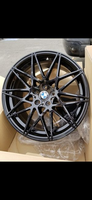 """Bmw 18"""" new m style rims tires set for Sale in Hayward, CA"""