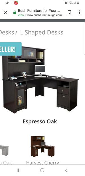 L shape desk with filing cabinet for Sale in Bluffdale, UT