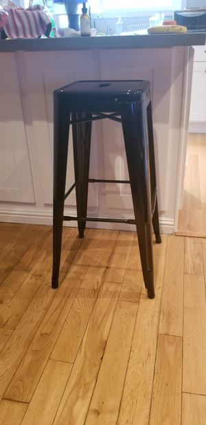 "Black metal bar stool no back 30"" high for Sale in Los Angeles, CA"