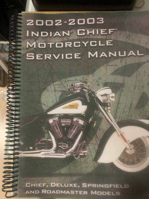 Indian chief motorcycle service manual 2002. 2003 for Sale in Miami Gardens, FL