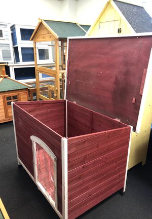 Dog house burgundy red cat pet cage space for Sale in Bell, CA
